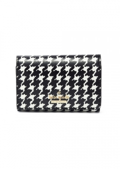 【最大48%OFF】【'19春夏新作】CAMERON STREET HOUNDSTOOTH KASSIDY|BLACK/CREAM|キーケース|kate spade new york - wallet and more