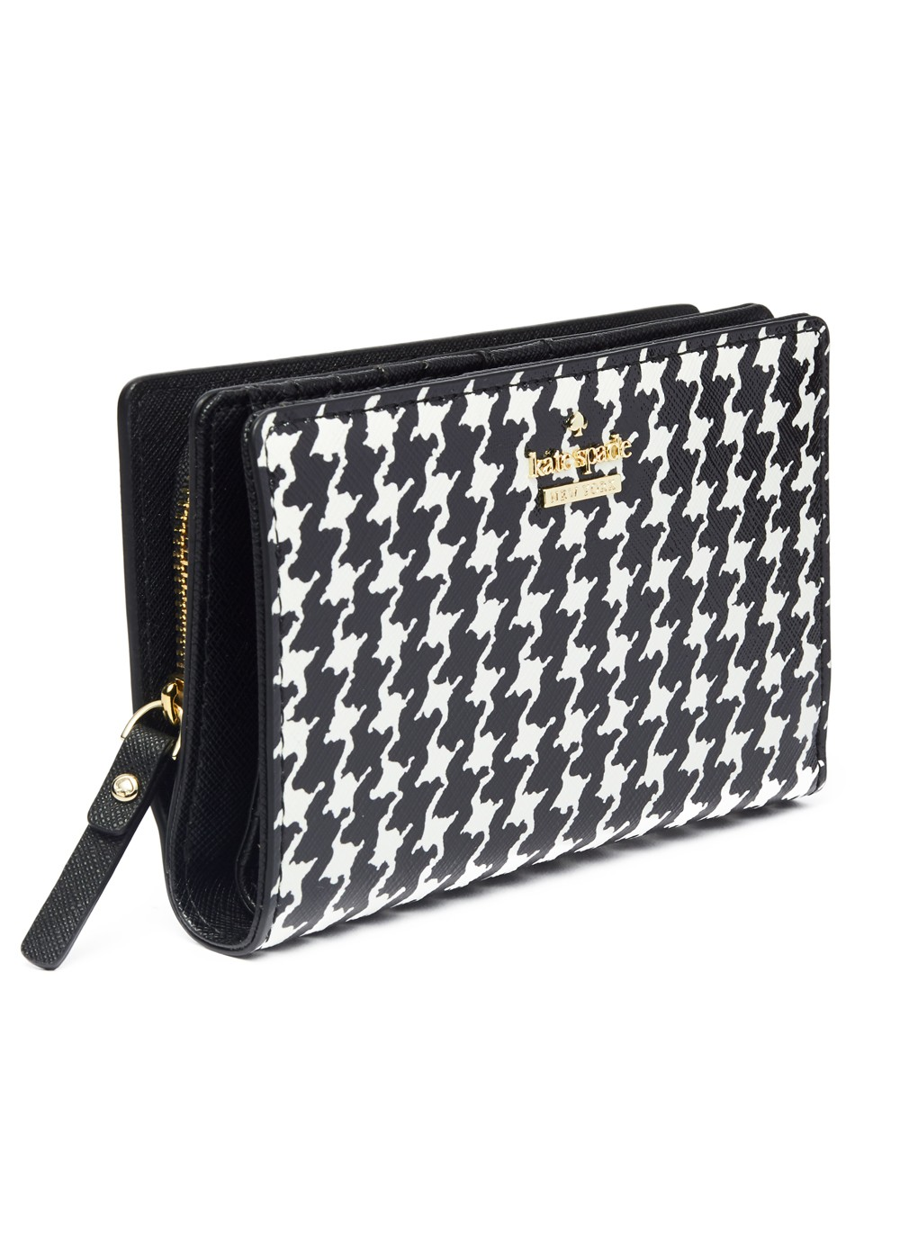 【最大48%OFF】【'19春夏新作】CAMERON STREET HOUNDSTOOTH DARA|BLACK/CREAM|レディース財布|kate spade new york - wallet and more