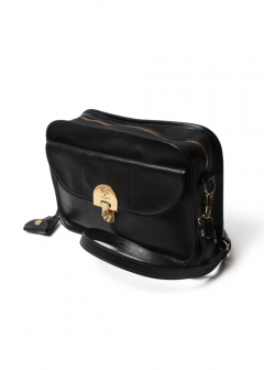 IL BISONTE - ショルダーバッグ SHOULDER BAG BADIA IN STRIPED 838/NERO