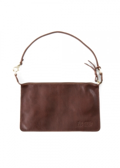 IL BISONTE - 薄型 クラッチバッグ カウハイドレザー CLUTCH 153/BLACK(NERO) A2572