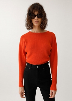 【最大60%OFF】COLOR COMPACT KNIT TOP|BLK|ニット|MOUSSY