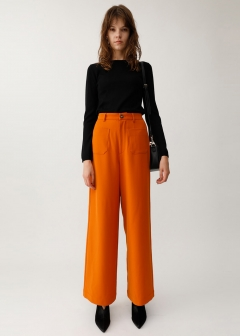 FRONT POCKET WIDE PANTS