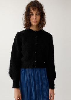 MOHAIR MIX SHORT CARDIGAN