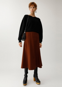 BELTED FLARE SKIRT