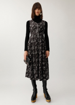 VELVET JUMPER SKIRT