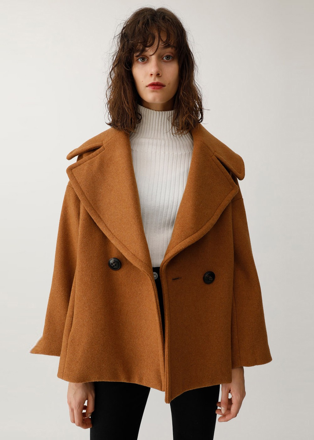 【最大60%OFF】BIG COLLAR SHORT COAT|L/BEG|その他コート|MOUSSY