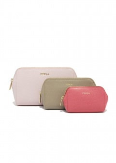 FURLA - wallet and more - 3個セットポーチ/ELECTRA【CAMELIA+SABBIA+ORTENSIA】