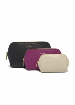 FURLA - wallet and more - 3個セットポーチ/ELECTRA【ONYX+BOUGANVILLE+VANIGLIA】