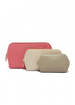 FURLA - wallet and more - 3個セットポーチ/ELECTRA【ORTENSIA+VANIGLIA+SABBIA】