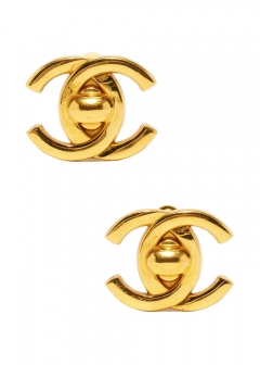 VINTAGE - Accessories - - CHANEL ターンロックイヤリングGD 95A 大