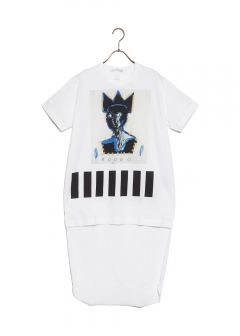 COMME des GARCONS - 【1/14入荷】SHITRT COTTON JERSEY WITH DIGITAL PRINTING BASQUIAT
