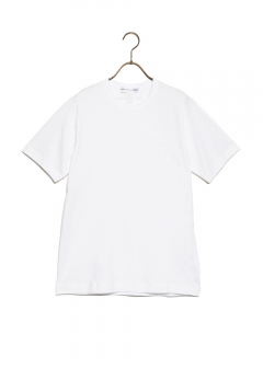 COMME des GARCONS - COTTON JERSEY PLAIN WITH CDG LOGO PRINT BACK