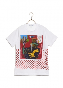 COMME des GARCONS - SHITRT COTTON JERSEY WITH DIGITAL PRINTING BASQUIAT