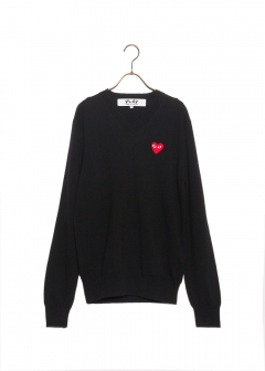 COMME des GARCONS - PLAY V-NECK SWEATER