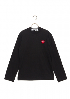 COMME des GARCONS - 【1/14入荷】PLAY LONG SLEEVE TEE RED HEART