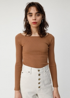 SQUARE NECK KNIT PO