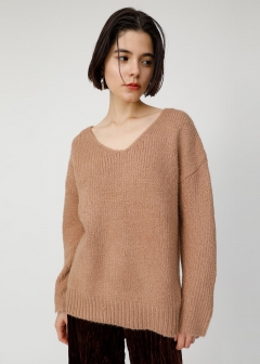V NECK COZY KNIT