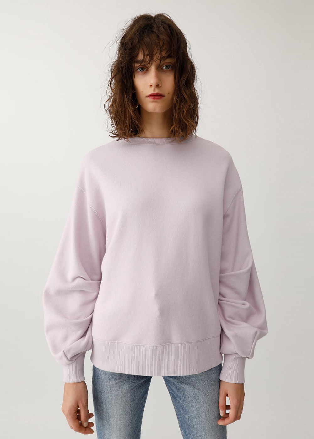 【最大60%OFF】VOLUME SLEEVE POJ|L/PUR|カットソー|MOUSSY