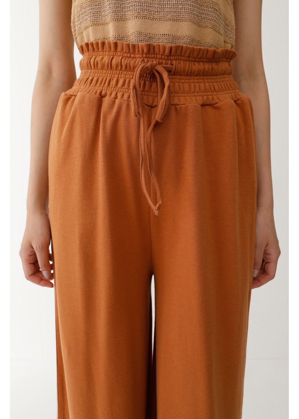 【最大60%OFF】WAIST GATHER RELAX PANTS|BRN|ワイド|MOUSSY
