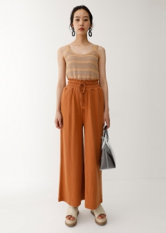 WAIST GATHER RELAX PANTS