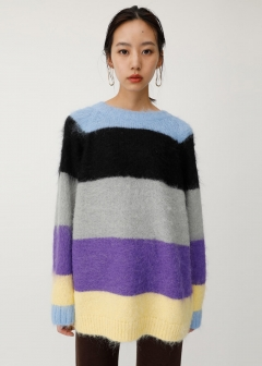 MULTI BORDER KNIT SWEATER