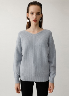 FLUFFY LONG KNIT PO