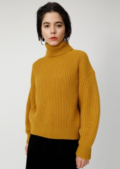 HI NECK VOLUME SLEEVE KNIT