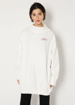 【最大60%OFF】SW BOTTLE NECK SWEAT POJ|O/WHT|スウェット|MOUSSY