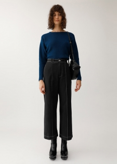 PIN TUCK WIDE PANTS