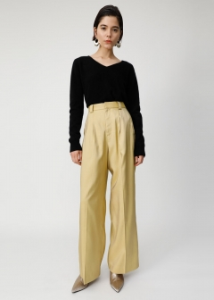 GLOSS COLOR WIDE PANTS