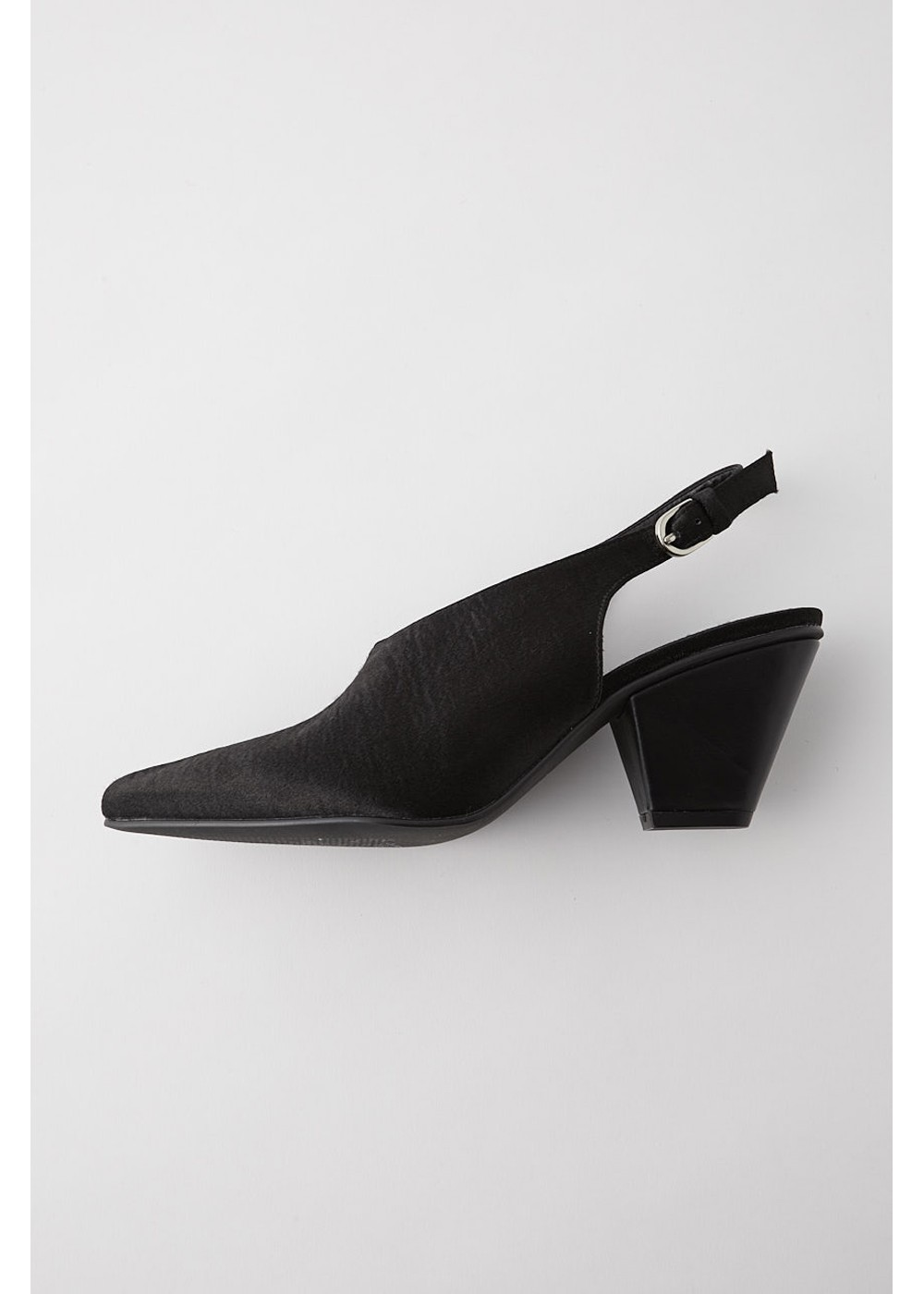 【最大60%OFF】SLING BACK LUSTER PUMPS|BLK|パンプス|MOUSSY