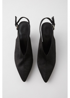 SLING BACK LUSTER PUMPS