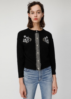 DECORATIVE SHORT CARDIGAN