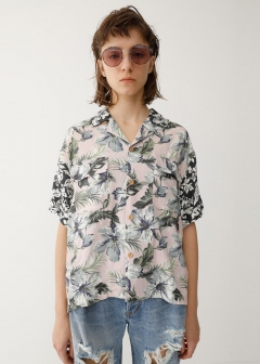 CRAZY PATTERN OPEN COLLAR