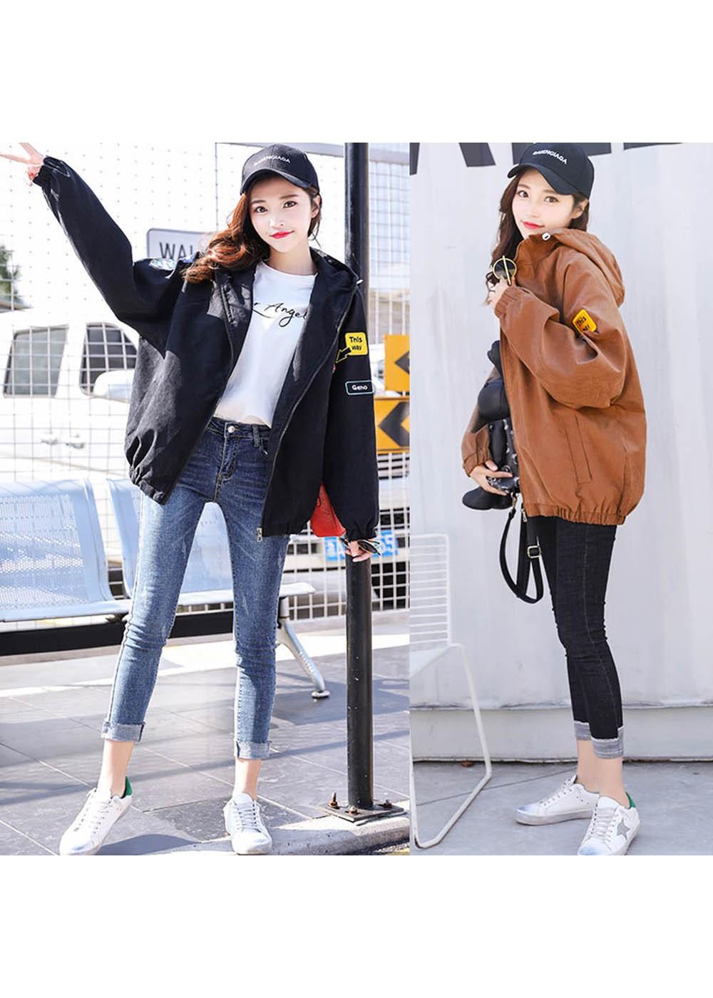 fd816e5850e ... 最大84%OFF】【fashion box】ワッペン付きジャンパー|カーキ| ...