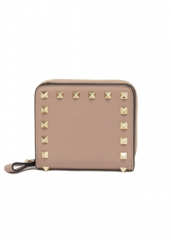 VALENTINO - ROCKSTUD COMPACT ZIPPED WALLET