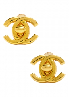 VINTAGE - Accessories - - CHANEL ターンロックイヤリングGD 96A