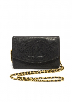 CHANEL - vintage selection - - CHANEL チェーンウォレット キャビア