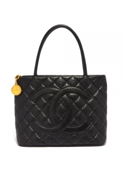 CHANEL A01804 復刻トートGD キャビア GD