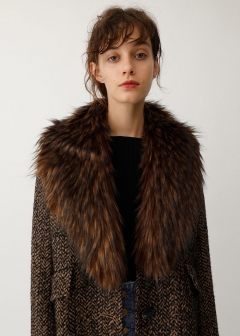 FAUX FUR BIG SCARF