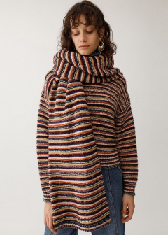 MIXBORDER KNIT STOLE