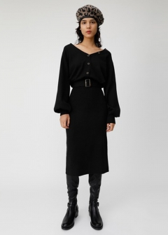 2WAY BLOUSING KNIT DRESS