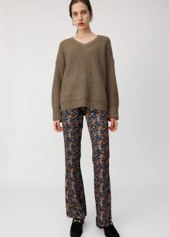 CUT FLARE FLOWER PANTS