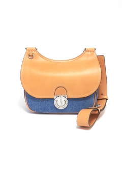 Tory Burch - JAMES SMALL DENIM SADLEBAG