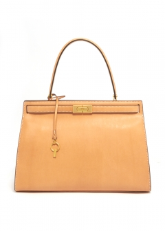 LEE RADZIWILL LARGE HAIRCALF SATCHEL