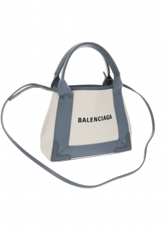 【BALENCIAGA】NAVY CABAS XS / 2WAYバッグ 【NATUREL/GRIS SOURIS】