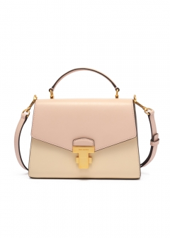 JULIETTE COLOR-BLOCK SMALL TOP-HANDLE SATCHEL