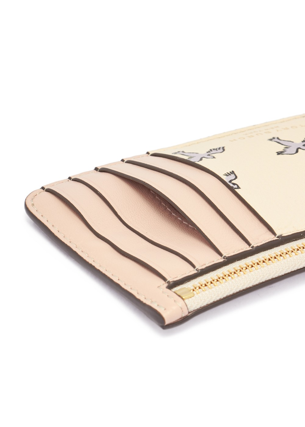 【最大47%OFF】PRINTED TASSEL ZIP CARD CASE|IVORY EARLY BIRD|カードケース|Tory Burch