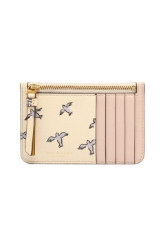 PRINTED TASSEL ZIP CARD CASE