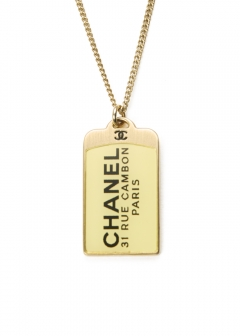 CHANEL COCO JEWELRY - CHANEL ロゴプレートネックレス 07C